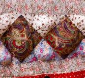Édredon de tissu de patchwork Images libres de droits