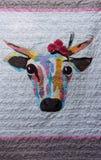 Édredon de vache photos stock
