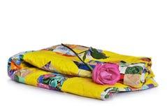 Édredon fait main fait dans le style de patchwork Image stock