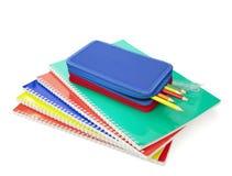 Éducation d'école de grilles de tabulation de trousse d'écolier Images stock