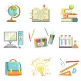 Éducation d'école et illustrations relatives d'études illustration stock