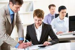 Éducation d'affaires Photo stock