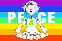 éducation d'enfants - yoga - Images stock