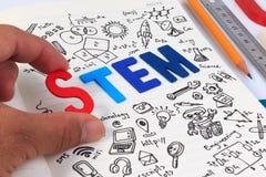 Éducation de TIGE Mathématiques d'ingénierie de technologie de la Science photographie stock libre de droits