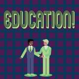 Éducation des textes d'écriture Concept signifiant l'enseignement des étudiants par exécution de la dernière technologie illustration libre de droits