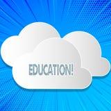 Éducation des textes d'écriture de Word Concept d'affaires pour l'enseignement des étudiants par exécution de la dernière technol illustration stock