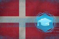Éducation du Danemark Concept du chapeau du célibataire illustration libre de droits