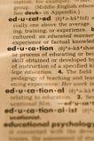 Éducation en dictionnaire Image libre de droits