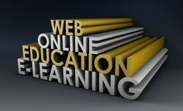 Éducation en ligne illustration stock