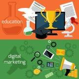 Éducation en ligne et vente numérique Photos libres de droits
