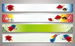 Éducation - ensemble de bannières illustration de vecteur