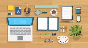 Éducation et étude du calibre plat de conception de bannière illustration stock