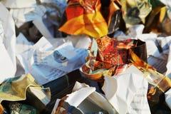 Éducation et déchets, fond images libres de droits