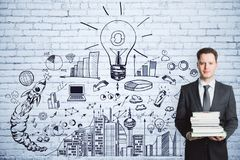 Éducation, idée et concept de succès Photo libre de droits