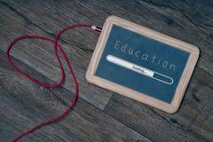 Éducation numérique de concept d'école de tableau noir Image libre de droits