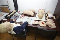 Éducation patiente de médecine d'hôpital de poupée Photos stock