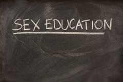 Éducation sexuelle comme sujet de classe sur le tableau noir Image stock