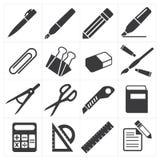 Éducation stationnaire d'icône illustration stock
