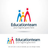 Éducation Team Logo Template Design Vector Images stock