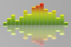 Égaliseur 3D de musique de couleur Image stock