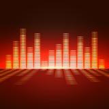 Égaliseur de fréquence vocale Image libre de droits