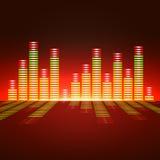 Égaliseur de fréquence vocale Images stock