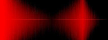 Égaliseur, onde sonore, fréquences de vague, fond abstrait clair, lumineux, laser Ondes sonores rouges oscillant Musique abstrait Image stock