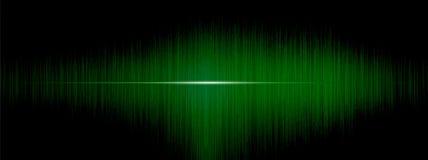 Égaliseur, onde sonore, fréquences de vague, fond abstrait clair, lumineux, laser Ondes sonores rouges oscillant Musique abstrait Photos libres de droits