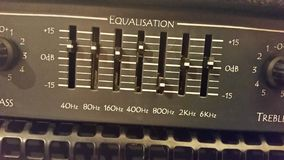 Égaliseur pour l'amplificateur de guitare image libre de droits