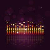 Égaliseur sain de musique illustration de vecteur