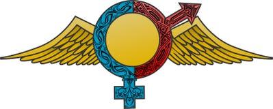 Égalisez le symbole de femme d'homme Images stock