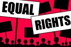 Égalité des droits Photo libre de droits