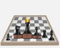 Égalité des droits en concurrence Un gage a le roi devenu illustration stock