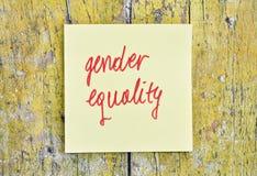 Égalité entre les sexes des textes Photographie stock libre de droits