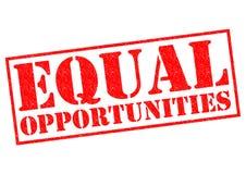Égalités des chances Image libre de droits