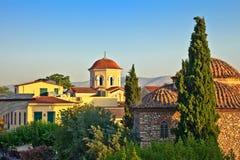 Église à Athènes Images libres de droits