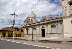 Église à Grenade, Nicaragua Images libres de droits