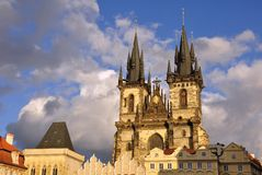 Église à Prague Images libres de droits