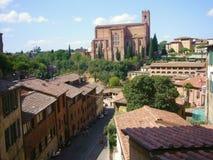 Église à Sienne (Italie) Images libres de droits