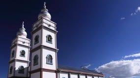Église élégante dans l'alto d'EL, Bolivie Images libres de droits