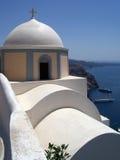 Église 40 de Santorini Photo libre de droits