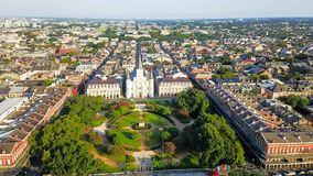 Église aérienne de Jackson Square Saint Louis Cathedral dans nouvel Orlean Photos libres de droits