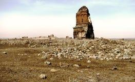 Église abandonnée dans l'Ani, ancienne capitale arménienne Photos libres de droits