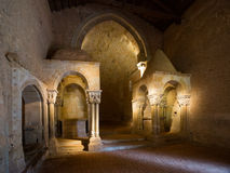 Église abandonnée de San Juan de Duero Monastery Images stock