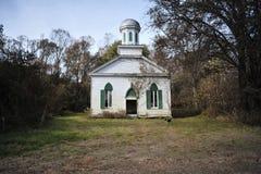 Église abandonnée, Rodney, Mississippi Photographie stock libre de droits