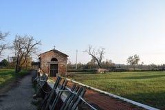 Église antique dans l'ouvert Photo stock