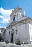 Église antique dans la partie antique de Brescia photographie stock libre de droits