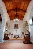 Église antique de Faifoli à l'intérieur images libres de droits