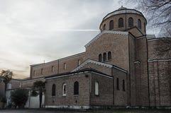 Église antique de vue extérieure Photos libres de droits