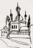 Église antique en ville illustration stock